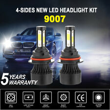 4-Sides 9007 HB5 LED Headlight Kit 72W 16000LM CREE Bulbs High Power 6000K White