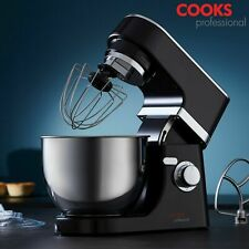 Cooks Professional Stand Mixer Whisk Dough Hook 5 Litre Bowl Splatter Guard 800W