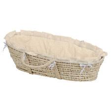 Badger Basket Natural Moses Basket - Beige Gingham Bedding