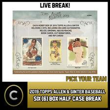 2019 TOPPS ALLEN & GINTER BASEBALL 6 BOX HALF CASE BREAK #A269 - PICK YOUR TEAM