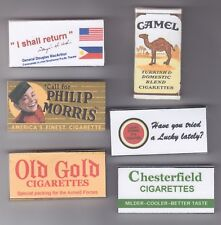 WW2 SET OF 6 EMPTY USABLE US K RATION  CIGARETTE PACKETS (REPRO)