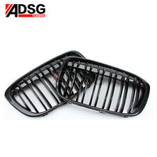 For BMW X Series X1 F48 Gloss Carbon Fiber 2-Slats Front Grill Grille 2016 - IN