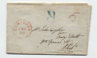 "c1845 Philadelphia large ""R"" registered stampless from New York [5246.554]"