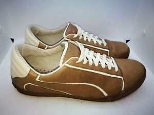 Puma Alexander Mcqueen brown leather trainers size 9
