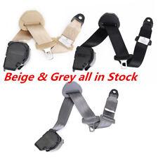 3Point Beige Car Seat Safety Belt Extender Extension Buckle Shoulder Seatbelt