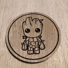 Marvel Inspired Wooden Coaster - Baby Groot - Laser cut gift