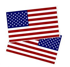 "2 American Flag Stickers | size: 4.5"" tall x 8"" long 