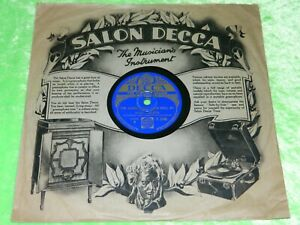 ELSIE CARLISLE : The clouds will soon roll by - Original 1933 UK Decca 78rpm 218
