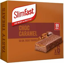 SlimFast Chocolate Caramel Snack Bar pack of 6 bars -SENT IN A LARGE LETTER BOX