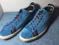 New in Box Paul Smith Vestri Marine Blue Silky Suede Trainer Sneakers MSRP $265