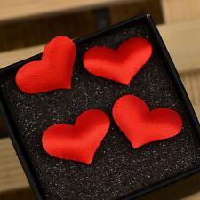 Hot 50PCS Padded Felt Heart Applique/Sewing/Trim DIY H127