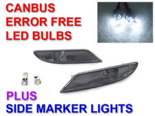Light Smoke Bumper Side Markers+CanBus LED Bulbs For 2007-2009 Mercedes S-Class