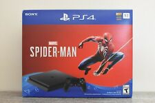 NEW Sony PlayStation 4 Slim Marvel Spiderman Bundle PS4 Console 1TB