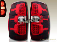 2007-2013 CHEVROLET AVALANCHE LS LT1 LT2 LT3 LED TAIL LIGHTS RED PAIR