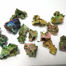 50g Bismuth rainbow bright crystal geode each weight 8-20g element Bi Mineral