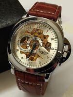 Orologio Automatico/Meccanico uomo casual Cinturino  Pelle 2 Modelli PAN-867REI3