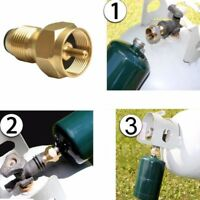 Propane Refill Brass Adapter LP Gas 1 Lb Cylinder Tank Coupler Heater Bottles