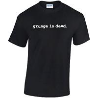 Grunge Is Dead Mens T-shirt  Kurt Cobain Nirvana Punk Rock