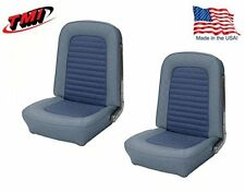 1966 Mustang Front Bucket Seat Upholstery- Pair- Blue Made by TMI - IN STOCK!!