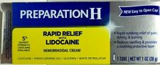 Preparation H Rapid Relief and Numbs Pain Hemorrhoidal Cream 1oz 28g 10/2022 NEW