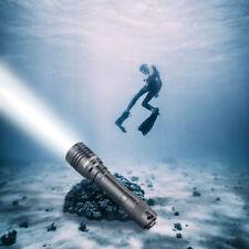 Waterproof 9000LM 10W LED Scuba Diving Flashlight Underwater 70M Torch 18650 USA