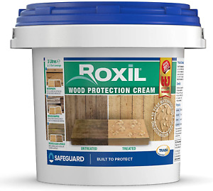 Roxil Wood Protection Cream 3L - Instant Wood Sealer, Waterproofing Clear Wood: