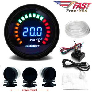 """Digital Boost Gauge 52mm 0-30 PSI Pressure Turbo Meter 2"""" with FREE Mount"""