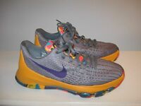 Nike KD VIII 8 GS Kevin Durant Basketball Shoes Youth US 7 Wolf Grey Blue