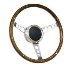 "13"" Wood Boat Steering wheel with Adapter 3 spoke boats with 3/4"" tapered key"