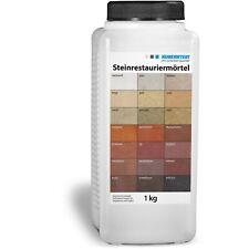 Ruberstein®  Steinrestauriermörtel in 21 verschiedenen Farben 1 kg Dose