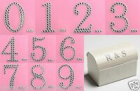 5cm Diamante Numbers Self Adhesive Gem Stickers Large Silver Iridescent