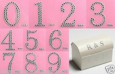 Large 5cm Self Adhesive Diamante Glitter Numbers - Craft Stickers