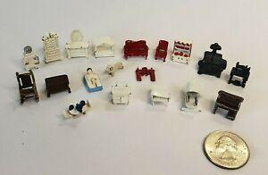 "Vintage Micro Mini 1/144"" Metal Dollhouse Furniture & Accessories Great Detail"