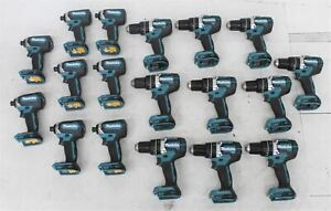 MAKITA XPH12 Hammer Drills & XDT13 Hex Impact Drivers 18V Job Lot x18 NEW