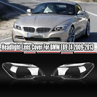 Clear Pair Front Headlight Headlamp Lens Cover For Bmw E89 Z4 2009-2013