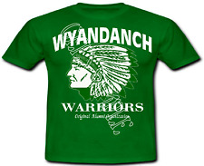 WYANDANCH WARRIOR GEAR HIGH QUALITY TEE SHIRTS ~ GREEN & WHITE