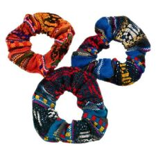 Manta Hair Tie Scrunchies 12 Pack Wholesale Colorful Pony Tail Band Peru Lot