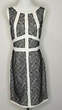 Portmans Black Cream Lace Sheath Office Career Dress / Size 14