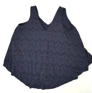 GREEN ENVELOPE (Anthropologie) Blue Sleeveless Top Size LARGE