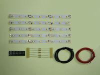 S293 - 5 Stück LED Waggonbeleuchtung 150mm gelb analog + digital Bausatz
