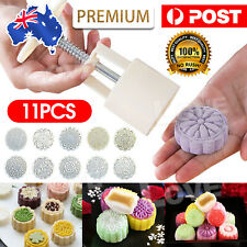 100g 10 Flower Stamps Round Pastry Moon Cake Mold Mould Cookies Mooncake Decor Z