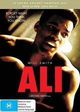 ALI (M, DVD) Stars: Will Smith. Genuine R4 *** Ships Quick ***