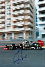 Romain Grosjean main signé F1 2012 lotus-renault photo 12x8 5.