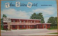 1955 Linen PC: Three Sisters Motel-Montpelier, Idaho ID