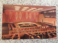POSTCARD NEW YORK UNITED NATIONS-ECONOMIC & SOCIAL COUNCIL CHAMBER WITH UN STAMP