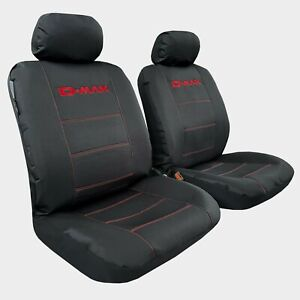 FOR ISUZU D MAX Seat Covers Dmax Dual Cab 2007-2021 Waterproof Black Front Pair