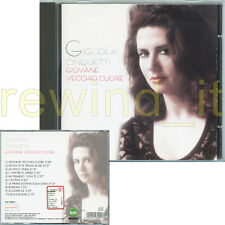 """GIGLIOLA CINQUETTI """"GIOVANE VECCHIO CUORE"""" RARO CD 1999"""