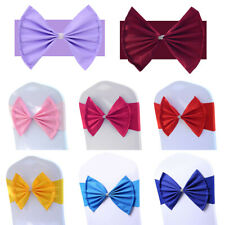 10/30/50/100pcs Spandex Stretch Chair Band Sashes Cover Buckle Bow Wedding Party