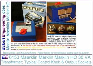 EE 6153 LN Marklin HO Transformer for USA 110-115 VAC Mains Refurbished by EE