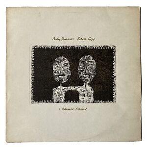 Andy Summers & Robert Fripp- I Advance Masked- Vinyl Record LP 1982